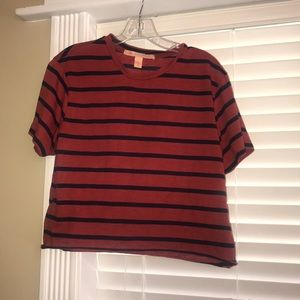 Striped Red and Navy Blue Shirt